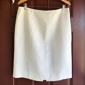 Calvin Klein Cream & Gold Thread Skirt